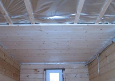Потолок в бане фото